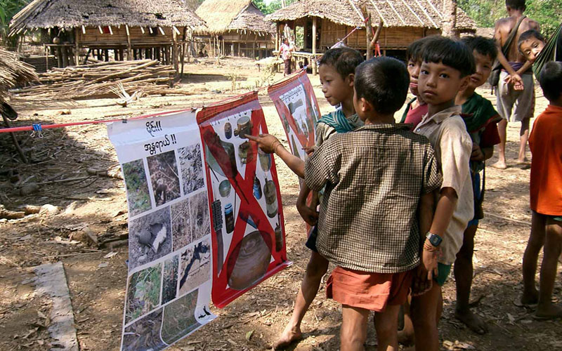 Gemeinsam gegen Landminen
